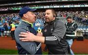 15 July 2018; Monaghan manager Malachy O'Rourke, left, shakes hands with Kildare manager Cian O'Neill after the GAA Football All-Ireland Senior Championship Quarter-Final Group 1 Phase 1 match between Kildare and Monaghan at Croke Park, Dublin. Photo by David Fitzgerald/Sportsfile
