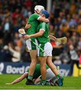 15 July 2018; Kyle Hayes, left, and Mike Casey of Limerick, right, celebrate after the GAA Hurling All-Ireland Senior Championship Quarter-Final match between Kilkenny and Limerick at Semple Stadium, Thurles, Co Tipperary. Photo by Ray McManus/Sportsfile