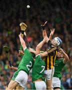 15 July 2018; TJ Reid of Kilkenny in action against Sean Finn, Dan Morrissey, 7, and Diarmaid Byrnes of Limerick during the GAA Hurling All-Ireland Senior Championship Quarter-Final match between Kilkenny and Limerick at Semple Stadium, Thurles, Co Tipperary Photo by Ray McManus/Sportsfile