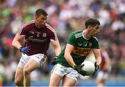 15 July 2018; Paul Geaney of Kerry in action against Gareth Bradshaw of Galway during the GAA Football All-Ireland Senior Championship Quarter-Final Group 1 Phase 1 match between Kerry and Galway at Croke Park, Dublin. Photo by David Fitzgerald/Sportsfile