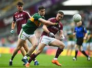 15 July 2018; Eamonn Brannigan of Galway in action against Paul Geaney of Kerry during the GAA Football All-Ireland Senior Championship Quarter-Final Group 1 Phase 1 match between Kerry and Galway at Croke Park, Dublin. Photo by David Fitzgerald/Sportsfile