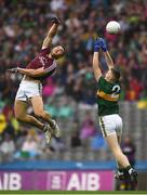 15 July 2018; Damien Comer of Galway in action agaisnt Jason Foley of Kerry during the GAA Football All-Ireland Senior Championship Quarter-Final Group 1 Phase 1 match between Kerry and Galway at Croke Park, Dublin. Photo by David Fitzgerald/Sportsfile