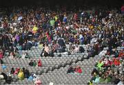 15 July 2018; A view of empty seating where previous there had been Kildare supporters seated for the previous game during the GAA Football All-Ireland Senior Championship Quarter-Final Group 1 Phase 1 match between Kerry and Galway at Croke Park, Dublin. Photo by David Fitzgerald/Sportsfile