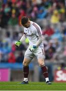 15 July 2018; Galway goalkeeper Ruairí Lavelle celebrates a score for his side during the GAA Football All-Ireland Senior Championship Quarter-Final Group 1 Phase 1 match between Kerry and Galway at Croke Park, Dublin. Photo by David Fitzgerald/Sportsfile