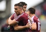 15 July 2018; Ian Burke and Eamonn Brannigan of Galway celebrate after the GAA Football All-Ireland Senior Championship Quarter-Final Group 1 Phase 1 match between Kerry and Galway at Croke Park, Dublin. Photo by David Fitzgerald/Sportsfile