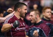 15 July 2018; Galway captain Damien Comer celebrates after the GAA Football All-Ireland Senior Championship Quarter-Final Group 1 Phase 1 match between Kerry and Galway at Croke Park, Dublin. Photo by David Fitzgerald/Sportsfile