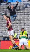 15 July 2018; Patrick Sweeney of Galway celebrates after scoring his side's first goal during the GAA Football All-Ireland Senior Championship Quarter-Final Group 1 Phase 1 match between Kerry and Galway at Croke Park, Dublin. Photo by David Fitzgerald/Sportsfile