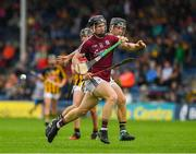 15 July 2018; Diarmuid Kilcommins of Galway in action against Conor Kelly of Kilkenny during the Electric Ireland GAA Hurling All-Ireland Minor Championship match between Galway and Kilkenny at Semple Stadium, Thurles, Co Tipperary.