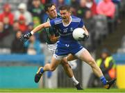 15 July 2018; Dessie Mone of Monaghan in action against Eoin Doyle of Kildare during the GAA Football All-Ireland Senior Championship Quarter-Final Group 1 Phase 1 match between Kildare and Monaghan at Croke Park, Dublin. Photo by Piaras Ó Mídheach/Sportsfile