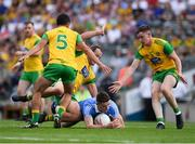 14 July 2018; Brian Fenton of Dublin is surrounded by Donegal players Frank McGlynn, 5, Michael Murphy and Ciarán Thompson, right, during the GAA Football All-Ireland Senior Championship Quarter-Final Group 2 Phase 1 match between Dublin and Donegal at Croke Park in Dublin.  Photo by Ray McManus/Sportsfile