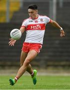 14 July 2018; Ben McCarron of Derry during the EirGrid GAA Football All-Ireland U20 Championship Semi-Final match between Mayo and Derry at Páirc Seán Mac Diarmada, in Carrick-on-Shannon. Photo by Piaras Ó Mídheach/Sportsfile