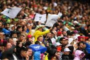 15 July 2018; A Kildare supporter in the Hogan Stand during the GAA Football All-Ireland Senior Championship Quarter-Final Group 1 Phase 1 match between Kildare and Monaghan at Croke Park, Dublin. Photo by Piaras Ó Mídheach/Sportsfile