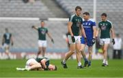 15 July 2018; Neil Flynn of Kildare after picking up an injury during the GAA Football All-Ireland Senior Championship Quarter-Final Group 1 Phase 1 match between Kildare and Monaghan at Croke Park, Dublin. Photo by Piaras Ó Mídheach/Sportsfile