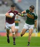15 July 2018; Johnny Heaney of Galway in action against Stephen O'Brien of Kerry during the GAA Football All-Ireland Senior Championship Quarter-Final Group 1 Phase 1 match between Kerry and Galway at Croke Park, Dublin. Photo by Piaras Ó Mídheach/Sportsfile