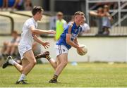 8 July 2018; Matthew Ging of Wicklow in action against Jack Hamil of Kildare during the Electric Ireland Leinster GAA Minor Football Championship Semi-Final match between Kildare and Wicklow at St Conleth's Park in Newbridge, Co. Kildare. Photo by Piaras Ó Mídheach/Sportsfile