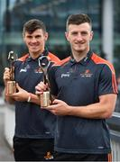 17 July 2018; Galway's Shane Walsh and Cork's Patrick Horgan have been voted as the PwC GAA/GPA Players of the Month for June in football and hurling respectively. Pictured are Patrick Horgan of Cork, right, and Shane Walsh of Galway after being presented with their PwC GAA/GPA Player of the Month Awards at a reception in PwC Offices, Cork. Photo by Brendan Moran/Sportsfile