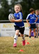 17 July 2018; Emily Nolan, age 6, from Kilmyshall, Co. Wexford, in action during the Bank of Ireland Leinster Rugby Summer Camp at Tullow RFC, in Roscat, Tullow, Co. Carlow. Photo by Seb Daly/Sportsfile