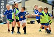 17 July 2018; Luke Denton, age 9, from, Tullow, Co Carlow, in action during the Bank of Ireland Leinster Rugby Summer Camp at Tullow RFC, in Roscat, Tullow, Co. Carlow. Photo by Seb Daly/Sportsfile