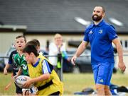 17 July 2018; Leinster's Scott Fardy during the Bank of Ireland Leinster Rugby Summer Camp at Tullow RFC, in Roscat, Tullow, Co. Carlow. Photo by Seb Daly/Sportsfile