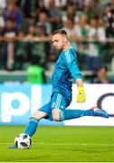 17 July 2018: Cork City goalkeeper, Peter Cherrie in action during the UEFA Champions League 1st Qualifying Round Second Leg match between Legia Warsaw and Cork City at the Polish Army Stadium in Warsaw, Poland. Photo by Lukasz Grochala/Sportsfile