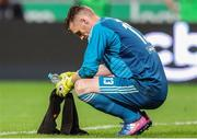 17 July 2018: Cork City goalkeeper, Peter Cherrie reacts during the UEFA Champions League 1st Qualifying Round Second Leg match between Legia Warsaw and Cork City at the Polish Army Stadium in Warsaw, Poland. Photo by Lukasz Grochala/Sportsfile
