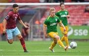 17 July 2018; Daryl Horgan of Preston North End in action against Jaze Kabia of Cobh Ramblers during the friendly match between Cobh Ramblers and Preston North End at Turners Cross in Cork. Photo by Brendan Moran/Sportsfile