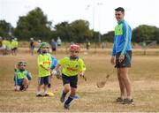 19 July 2018; Dublin hurler Danny Sutcliffe surprised youngsters taking part in one of the county's most popular Kellogg's GAA Cúl Camps with a visit to Éire Óg in Wicklow recently. Danny joined in what was an action-packed morning of activity and fun, teaching the children GAA skills, sharing great insider tips and promoting the importance of active play. More than 142,000 children took part in Kellogg's GAA Cúl Camps last year.  The camps are for children aged 6 – 13 years who can enjoy a week of on-the-pitch action learning new skills, making new friends, being active and having fun during the school holidays in July and August. Kellogg's involvement with Cúl Camps stems from its commitment to promoting and encouraging physical activity.  Educating children on the importance of nutrition to support active play is a key component of Cúl Camps and Kellogg's believes in the power of breakfast to fuel activity both on and off the pitch. The camps are in full swing and surprise visits will take place across all provinces during the summer. For more information parents can log on to www.kelloggsculcamps.gaa.ie Photo by Stephen McCarthy/Sportsfile