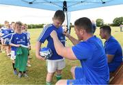 18 July 2018; Leinster player Peter Dooley with Jack Rock during the Bank of Ireland Leinster Rugby Summer Camp at Portlaoise RFC in Togher, Portlaoise, Co. Laois. Photo by Matt Browne/Sportsfile