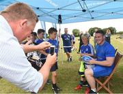 18 July 2018; Leinster player Peter Dooley with Billy Cooper during the Bank of Ireland Leinster Rugby Summer Camp at Portlaoise RFC in Togher, Portlaoise, Co. Laois. Photo by Matt Browne/Sportsfile