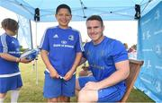 18 July 2018; Leinster player Peter Dooley with Theo Adams during the Bank of Ireland Leinster Rugby Summer Camp at Portlaoise RFC in Togher, Portlaoise, Co. Laois. Photo by Matt Browne/Sportsfile