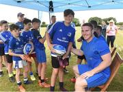 18 July 2018; Leinster player Peter Dooley with Sam Browne during the Bank of Ireland Leinster Rugby Summer Camp at Portlaoise RFC in Togher, Portlaoise, Co. Laois. Photo by Matt Browne/Sportsfile