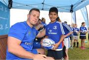 18 July 2018; Leinster player Bryan Byrne with Matthew Allen during the Bank of Ireland Leinster Rugby Summer Camp at Portlaoise RFC in Togher, Portlaoise, Co. Laois. Photo by Matt Browne/Sportsfile