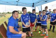 18 July 2018; Leinster player Bryan Byrne with Andrew Schiller during the Bank of Ireland Leinster Rugby Summer Camp at Portlaoise RFC in Togher, Portlaoise, Co. Laois. Photo by Matt Browne/Sportsfile