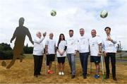 18 July 2018; In attendance, from left, are, FAI President Tony Fitzgerald, Simon Baker, General Secretary of the European Amptuee Football Federation, Emma Mullen, Communications at FAI, Thierry Regenass, Executive Director of International Committee Red Cross Movability, FAI CEO John Delaney, Chris McElligot, FAI Football for All coach and Darragh Griffin, DHL, during the Amputee Football Tanzania Project event at FAI HQ, Abbotstown, in Dublin. Photo by David Fitzgerald/Sportsfile