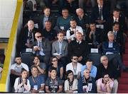 19 July 2018; Republic of Ireland Senior International manager Martin O'Neill sits alongside FAI Director of Competitions Fran Gavin, look on during the UEFA Europa League 1st Qualifying Round Second Leg match between Dundalk and Levadia at Oriel Park in Dundalk, Co Louth. Photo by Stephen McCarthy/Sportsfile