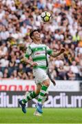 19 July 2018; Joel Coustrain of Shamrock Rovers during the UEFA Europa League 1st Qualifying Round Second Leg match between AIK and Shamrock Rovers at Friends Arena in Stockholm, Sweden. Photo by Simon Hastegård/Sportsfile