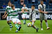 19 July 2018; Lee Grace of Shamrock Rovers in action against Tarik Elyounoussi of AIK during the UEFA Europa League 1st Qualifying Round Second Leg match between AIK and Shamrock Rovers at Friends Arena in Stockholm, Sweden. Photo by Simon Hastegård/Sportsfile