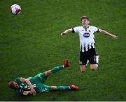 19 July 2018; Sean Gannon of Dundalk in action against Roman Debelko of Levadia during the UEFA Europa League 1st Qualifying Round Second Leg match between Dundalk and Levadia at Oriel Park in Dundalk, Co Louth. Photo by Stephen McCarthy/Sportsfile