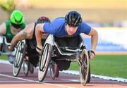 19 July 2018; Isaac Towers of Great Britain competing in the Men's Wheelchair 800m event during the Morton Games at Morton Stadium in Santry, Dublin. Photo by Sam Barnes/Sportsfile