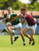 21 July 2018; Kieran Murphy of Kerry in action against Michael Day of Galway during the GAA Football All-Ireland Junior Championship Final match between Kerry and Galway at Cusack Park in Ennis, Co. Clare. Photo by Diarmuid Greene/Sportsfile