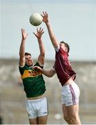 21 July 2018; Dan O'Donoghue of Kerry in action against Pádraic Cunningham of Galway during the GAA Football All-Ireland Junior Championship Final match between Kerry and Galway at Cusack Park in Ennis, Co. Clare. Photo by Diarmuid Greene/Sportsfile