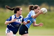 21 July 2018; Noelle Healy of Dublin in action against Sinead Greene of Cavan during the TG4 All-Ireland Senior Championship Group 4 Round 2 match between Cavan and Dublin at Lannleire GFC in Dunleer, Co. Louth. Photo by Oliver McVeigh/Sportsfile