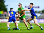 21 July 2018; Michael Murphy of Donegal in action against Sean McDermott, left, and Niall McInerney of Roscommon during the GAA Football All-Ireland Senior Championship Quarter-Final Group 2 Phase 2 match between Roscommon and Donegal at Dr Hyde Park in Roscommon. Photo by David Fitzgerald/Sportsfile