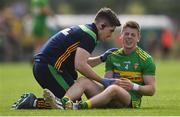 21 July 2018; Eoghan Bán Gallagher of Donegal is treated for an arm injury before being substituted during the GAA Football All-Ireland Senior Championship Quarter-Final Group 2 Phase 2 match between Roscommon and Donegal at Dr.Hyde Park in Roscommon. Photo by Ramsey Cardy/Sportsfile