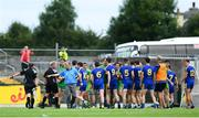 21 July 2018; Roscommon manager Kevin McStay protests to the officials as players from both side's tussle during the GAA Football All-Ireland Senior Championship Quarter-Final Group 2 Phase 2 match between Roscommon and Donegal at Dr Hyde Park in Roscommon. Photo by David Fitzgerald/Sportsfile