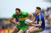 21 July 2018; Michael Murphy of Donegal in action against Niall McInerney of Roscommon during the GAA Football All-Ireland Senior Championship Quarter-Final Group 2 Phase 2 match between Roscommon and Donegal at Dr Hyde Park in Roscommon. Photo by David Fitzgerald/Sportsfile