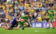 21 July 2018; Michael Langan of Donegal in action against Enda Smith of Roscommon during the GAA Football All-Ireland Senior Championship Quarter-Final Group 2 Phase 2 match between Roscommon and Donegal at Dr Hyde Park in Roscommon. Photo by David Fitzgerald/Sportsfile