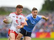 21 July 2018; Conor Meyler of Tyrone in action against Con O'Callaghan of Dublin during the GAA Football All-Ireland Senior Championship Quarter-Final Group 2 Phase 2 match between Tyrone and Dublin at Healy Park in Omagh, Tyrone. Photo by Ray McManus/Sportsfile