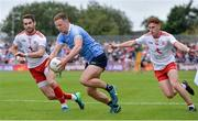 21 July 2018; Ciaran Kilkenny of Dublin in action against Ronan McNamee, left, and Conor Meyler of Tyrone  during the GAA Football All-Ireland Senior Championship Quarter-Final Group 2 Phase 2 match between Tyrone and Dublin at Healy Park in Omagh, Tyrone. Photo by Oliver McVeigh/Sportsfile