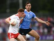 21 July 2018; Conor Meyler of Tyrone in action against Cormac Costello of Dublin during the GAA Football All-Ireland Senior Championship Quarter-Final Group 2 Phase 2 match between Tyrone and Dublin at Healy Park in Omagh, Tyrone. Photo by Stephen McCarthy/Sportsfile